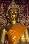 Buddha statue, Wat Si Bun Heuang, Luang Prabang, Laos, Indochina, Southeast Asia, Asia