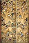 Temple door, Wat Paphaimsaiyaram, Luang Prabang, Laos, Indochina, Southeast Asia, Asia