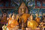 Buddha statues, Wat Aham, Luang Prabang, Laos, Indochina, Southeast Asia, Asia