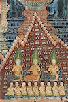 Interior murals, Wat Pak Huak, Luang Prabang, Laos, Indochina, Southeast Asia, Asia