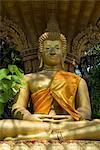 Buddha statue, Wat Si Muang, Vientiane, Laos, Indochina, Southeast Asia, Asia