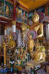 Buddha statues, Wat Hai Sok, Vientiane, Laos, Indochina, Southeast Asia, Asia