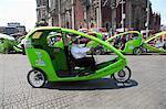 Eco friendly cycle rickshaw, Zocalo, Plaza de la Constitucion, Mexico City, Mexico, North America