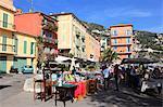 Marché aux puces, Villefranche sur Mer, Alpes Maritimes, Cote d'Azur, French Riviera, Provence, France, Europe