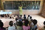 Primary school in Africa, Hevie, Benin, West Africa, Africa