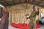 Evangelical preacher in church, Lome, Togo, West Africa, Africa