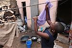 Wäscheservice, Lome, Togo, Westafrika, Afrika