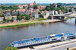 La ville de Meissen, en Saxe, en Allemagne, l'Europe