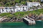 Le village côtier de Polperro dans Cornwall, Angleterre, Royaume-Uni, Europe