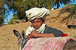 Ramadi Dorf, Niltal zwischen Luxor und Aswan, Ägypten, Nordafrika, Afrika