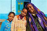 Ägyptische Mädchen, Ramadi Ortschaft, Niltal zwischen Luxor und Aswan, Ägypten, Nordafrika, Afrika