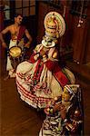 Kathakali Tänzer, Fort Cochin, Kerala, Indien, Asien