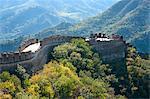 Grande muraille de Chine, patrimoine mondial UNESCO, Huanghuacheng (fleur jaune) à l'automne, de la dynastie Ming, Jiuduhe Zhen, Huairou, Chine, Asie