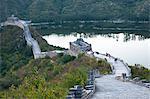 Lac de Jintang à côté de la grande muraille de Chine, patrimoine mondial UNESCO, Huanghuacheng (fleur jaune), de Ming dynasty, Jiuduhe, Huairou, Chine, Asie