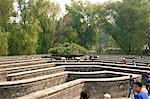 Labyrinthe labyrinthe jardin, parc de Yuanmingyuan (Yuan Ming Yuan), ancien palais d'été, Beijing, Chine, Asie