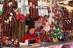 Chorizo and sausage stall, Central Market (Kozponti Vasarcsarnok), Budapest, Central Hungary, Hungary, Europe