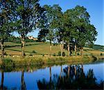 Vue sur le Canal de Bourgogne au Chateau, Châteauneuf, Bourgogne, France, Europe