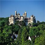 Le château médiéval, Pierrefonds, Picardie, France, Europe