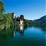 Château à côté du lac, Duingt, lac d'Annecy, Rhone Alpes, France, Europe