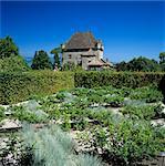 Le château et Jardin des Cinq Sens (jardin des cinq sens), Yvoire lac Léman (Lac Léman), Rhone Alpes, France, Europe