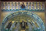 Mosaïque byzantine, Basilique d'Euphrase, patrimoine mondial UNESCO, Porec, Istrie, Croatie, Europe