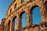 L'amphithéâtre romain, Pula, Istrie, Croatie, Europe