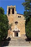 Sant Pere Church, Pals, Costa Brava, Catalonia, Spain, Europe