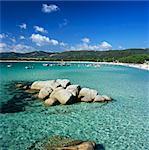 Plage de Santa Giulia, Süd-Ost-Korsika, Korsika, Mittelmeer, Europa