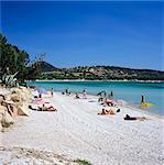 Plage de Santa Giulia, southeast coast, Corsica, France, Mediterranean, Europe