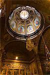 Intérieur du monastère de Lluc (Monastir De Lluc), Majorque, îles Baléares, Espagne, Europe