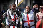 St. George's Day feiern in 2010, London, England, Vereinigtes Königreich, Europa