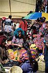 Marché à Solola, Western Highlands, le Guatemala, l'Amérique centrale