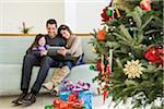 Family at Christmas, Florida, USA