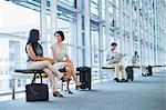 Business people talking in hallway