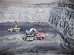 Construction work in coal mine