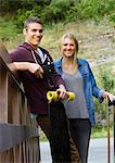Long boarding couple