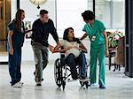 USA, Utah, Payson, schwangere Frau in den Wehen im Krankenhaus