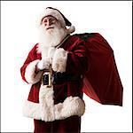 Weihnachtsmann, die Geschenke eine Tragetasche