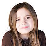 Portrait of angry girl (8-9),studio shot