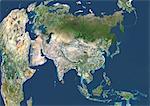 Satellite View of Asia