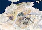 Satellite View of Algeria and Surrounding Area