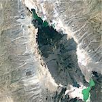 Erta Ale Volcano, Ethiopia, True Colour Satellite Image. Erta Ale volcano, Ethiopia, true colour satellite image. Erta Ale (613m) is a shield volcano in the Afar region of East Africa. Image taken on 5 February 2002 using LANDSAT data. Print size 30 x 30 cm.