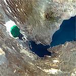 Ardoukoba Volcano, Djibouti, True Colour Satellite Image. Ardoukoba, Djibouti, true colour satellite image. Ardoukoba is a volcano located close to Assal Lake in Djibouti. Image taken on 13 May 2000 using LANDSAT data. Print size 30 x 30 cm.