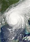 Hurricane Katrina, Louisiana, Us, On 29/08/2005, True Colour Satellite Image. Hurricane Katrina on 29 August 2005 over southeast Louisiana, US. True-colour satellite image using MODIS data.
