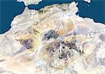 Satellite View of Algeria