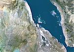 Eritrea, True Colour Satellite Image With Border