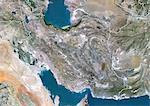 Iran, True Colour Satellite Image With Border