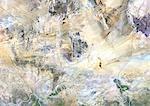 Niger, Image Satellite couleur vraie avec bordure