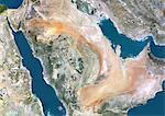 Arabie saoudite, Image Satellite couleur vraie avec bordure