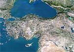 Turquie, Image Satellite couleur vraie avec bordure